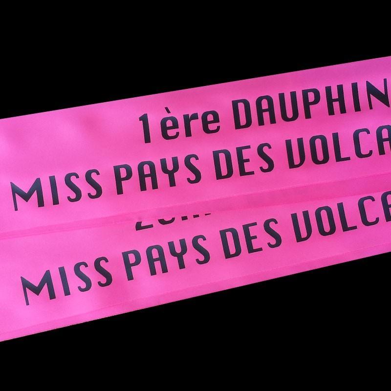 Echarpe de miss personnalisée à partir de 9€ en satin de qualité à ... d00eb830d1b